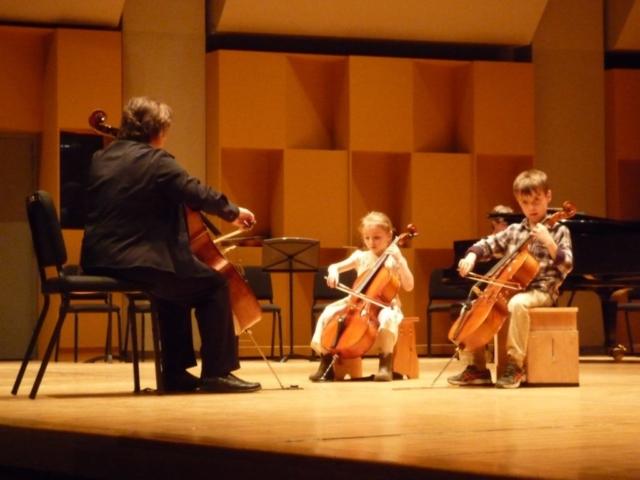 Étudiants de violoncelle de Maude Durand, Pollack Hall, Décembre 2015