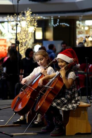 Cello students of Maude Durand, Complexe Desjardins, December 2015